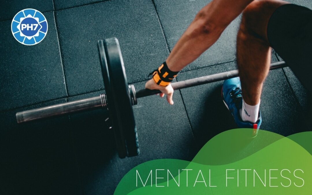 mental fitness - man using weights